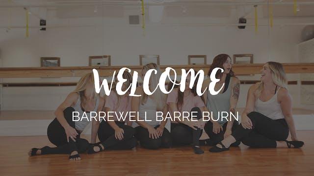 BarreWell Barre Burn Instructor Training Welcome
