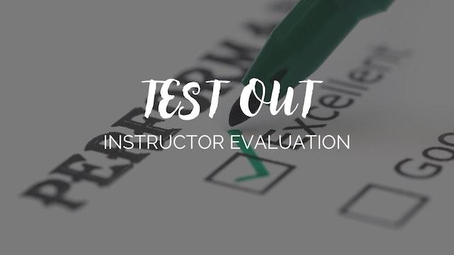 Barre Burn Instructor Evaluation Document