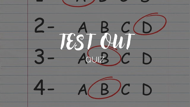 Barre Burn Instructor Test Out Quiz