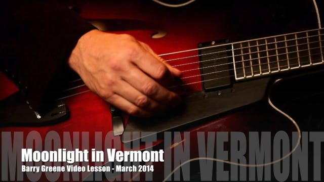 Moonlight in Vermont - Chord Melody
