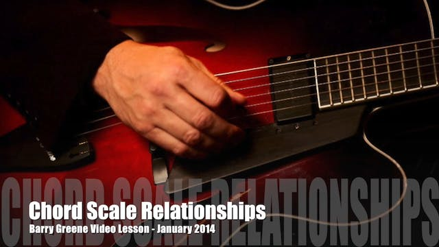 Chord Scale Relationships - Essential