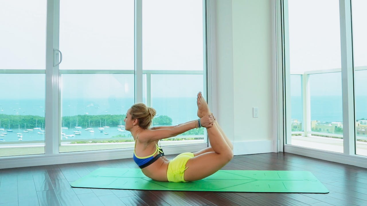 Day 50 Tie a Bow on It Backbends, Dhanurasana with Kino   Basic ...