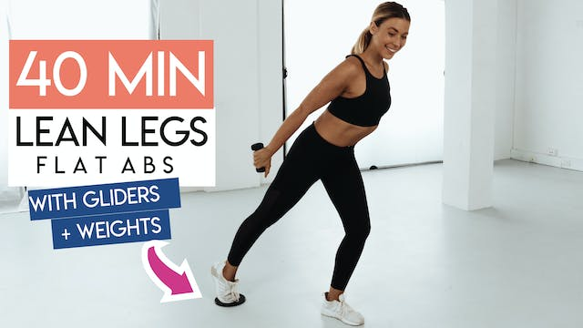 40 MIN ABS + THIGHS TONING WITH GLIDERS