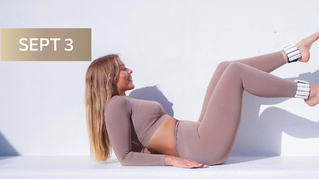 SEPT 3 - 30 MINUTE TIGHT ABS + TONED ARMS MAT PILATES WORKOUT (NO EQUIPMENT)