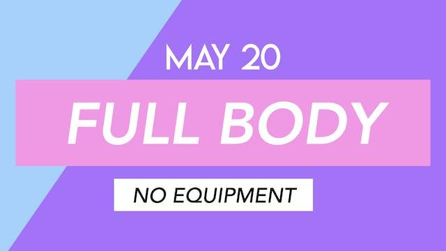 MAY 20 - 40 MIN FULL BODY MAT PILATES...