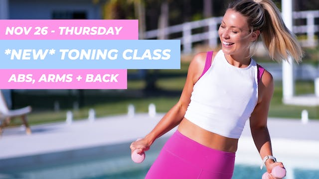 NOV 26 - *NEW* SUNSET SCULPT TONING -...