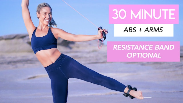 30 MIN - FULL BODY TONING CLASS BAND (HANDLE BAND OPTIONAL)