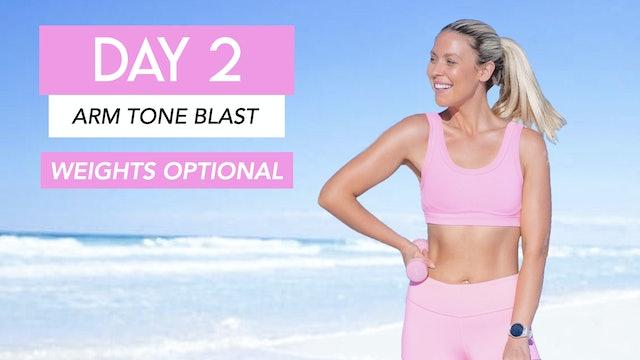 DAY 2 - ARM TONING CARDIO BLAST (WEIGHTS OPTIONAL)