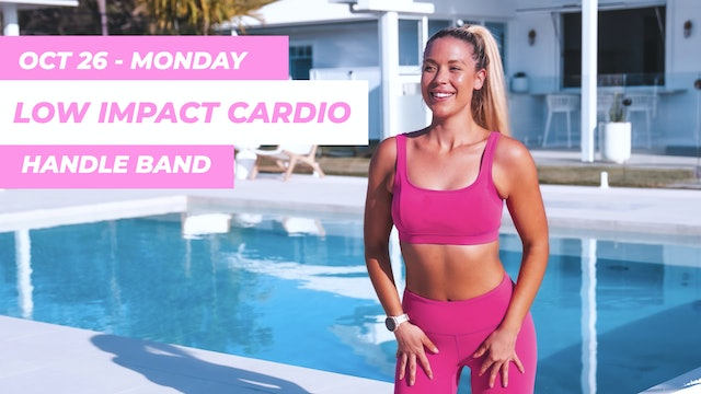 OCT 26- 35 MIN ARMS ABS AND ASSETS LOW IMPACT CARDIO ( HANDLE BAND )