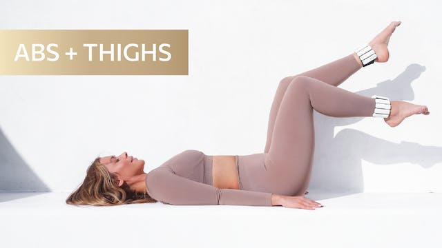 10 MIN LOWER ABS + THIGH TONING QUICK...