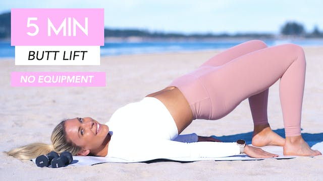 5 MINUTE BUTT LIFTING WORKOUT (NO EQU...