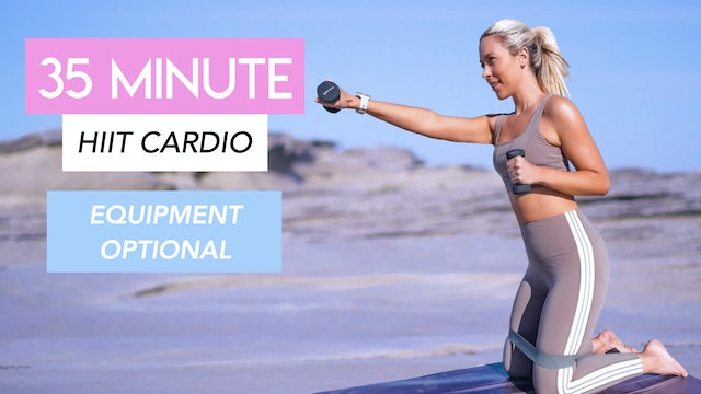 35 MINUTE HIIT PILATES CLASS - BOOTY BAND AND ANKLE WEIGHTS OPTIONAL