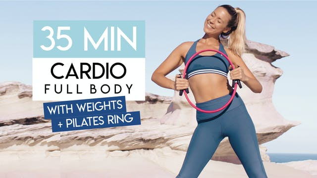 35 MIN CARDIO PILATES WITH PILATES RING