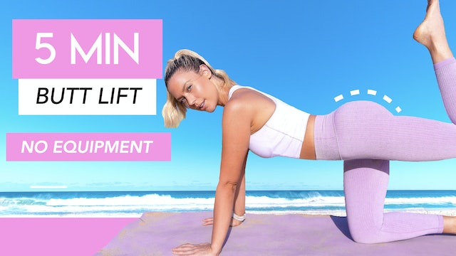 5 MINUTE BUTT SHAPING WORKOUT 🍑💕 (SHAPE AND TONE YOUR BUTT IN 5 MINUTES!)