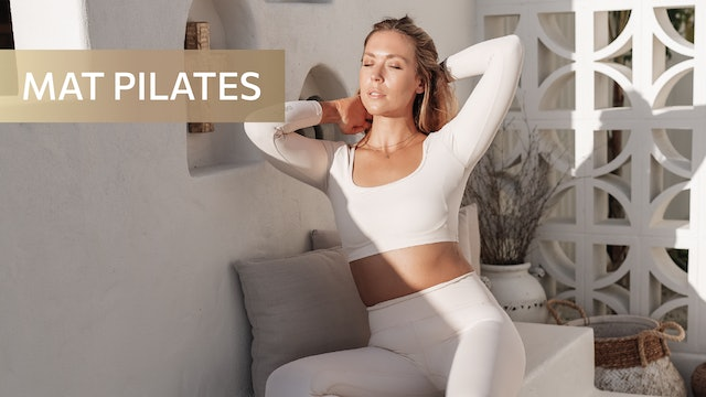 35 MIN SUNSET SCULPT + TONE - ARMS, ABS + POSTURE (ANKLE WEIGHTS OPT)