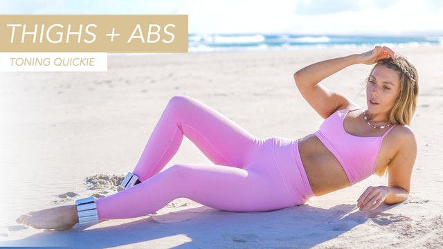 10 MIN LOWER ABS + THIGH TONING QUICKIE (NO EQUIPMENT)