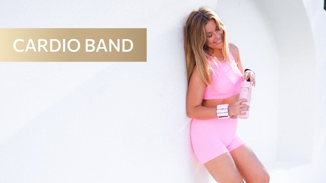 30 MIN - LOW IMPACT CARDIO - ARMS, ABS + ASSETS (HANDLE BAND)