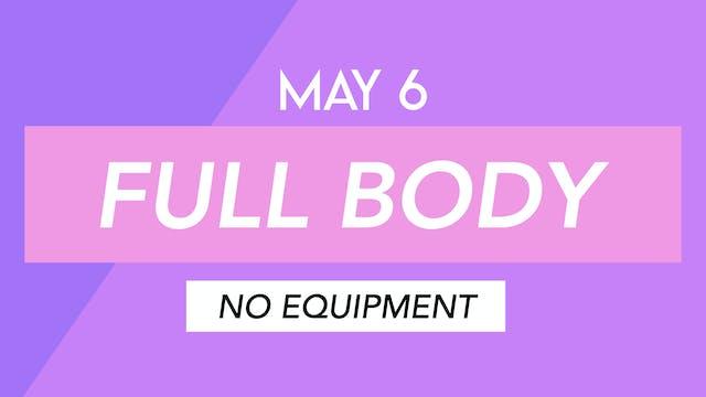 MAY 6 - 35 MINUTE FULL BODY MAT CLASS...