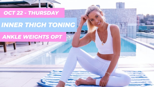OCT 22 - 35 MIN TONING CLASS FOR SLIM WAIST, FLAT ABS AND SLIM THIGHS
