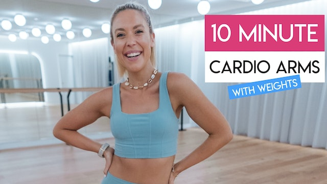 10 MIN ARMS LOW IMPACT CARDIO TONING with weights