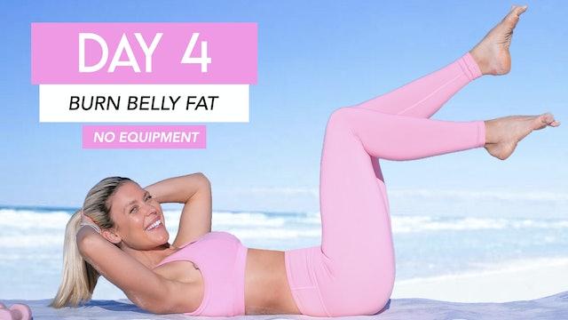 DAY 4 - BURN BELLY FAT + SMALLER WAIST (NO EQUIPMENT)