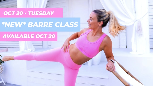 OCT 20 - NEW BARRE THIGHS, BUTT + ABS CLASS (WITH CHAIR)