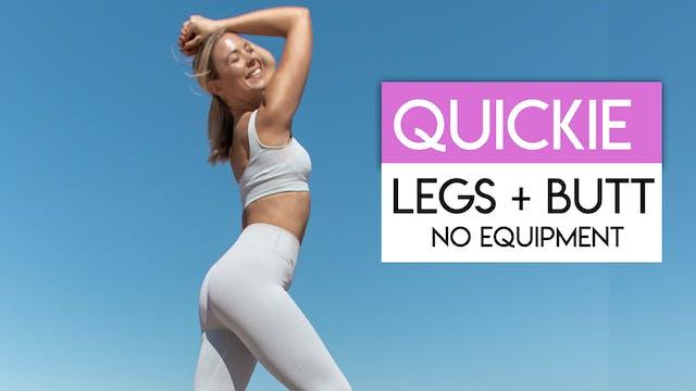 10 MIN LEGS + BUTT TONING
