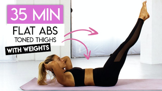 35 MIN THIGHS + ABS TONING
