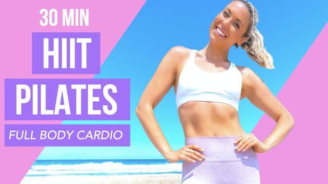 30 MIN HIIT PILATES ARMS ABS + BUTT 💕...