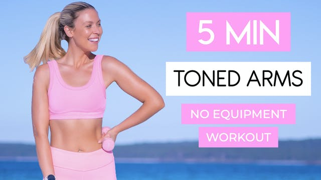 5 MIN ARM TONING WORKOUT (NO EQUIPMENT)