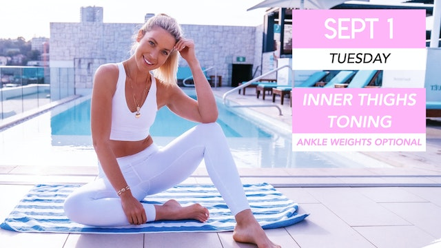 SEPT 1 - 35 MIN TONING CLASS FOR SLIM WAIST, FLAT ABS AND SLIM THIGHS