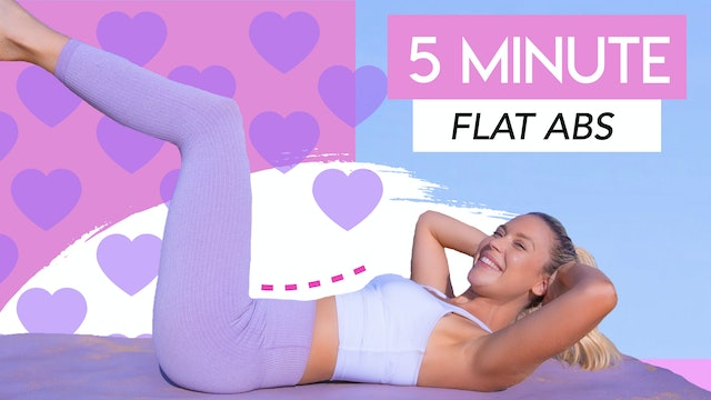 5 MIN SMALLER WAIST and LOSE BELLY FAT 💕 (NO EQUIPMENT FLAT ABS WORKOUT)