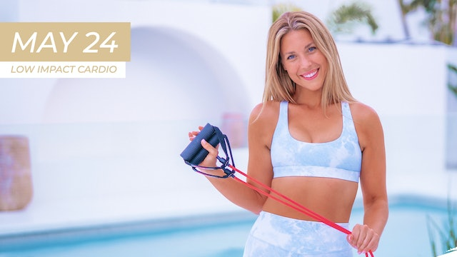 MAY 24 - 35 MIN ARMS ABS AND ASSETS LOW IMPACT CARDIO (HANDLE BAND )