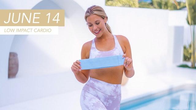 JUNE 14 - 30 MIN FAT BURNING CARDIO CLASS (LOW IMPACT - BOOTY BAND OPTIONAL)