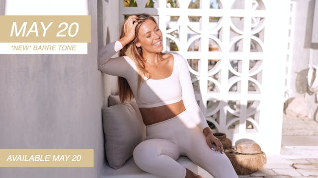 MAY 20 - *NEW* BARRE TONING CLASS (WE...