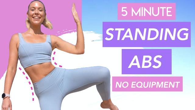 STANDING PILATES ABS WORKOUT 💕 TIGHT WAIST + FLAT ABS (NO EQUIPMENT)