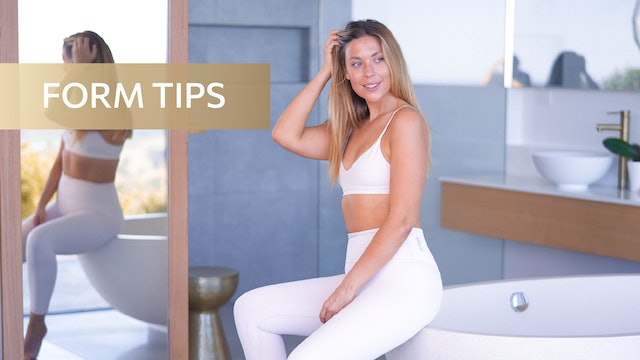 FORM TIPS - HOW TO TONE YOUR ABS + WAIST