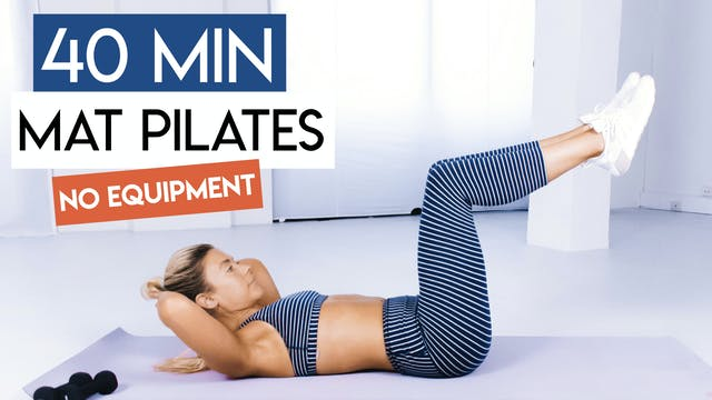 40 MIN FULL BODY MAT PILATES