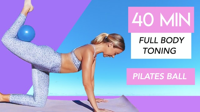 40 MIN FULL BODY MAT PILATES WITH BALL