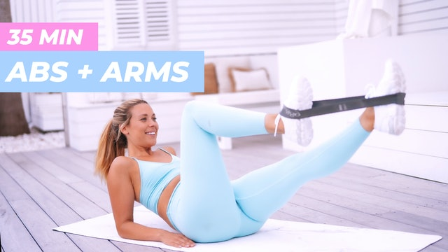 35 MIN ABS + ARM TONING WITH THE BOOTY BAND