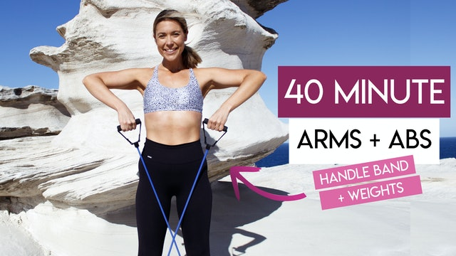 40 MIN ABS + ARMS CARDIO WITH HANDLE BAND