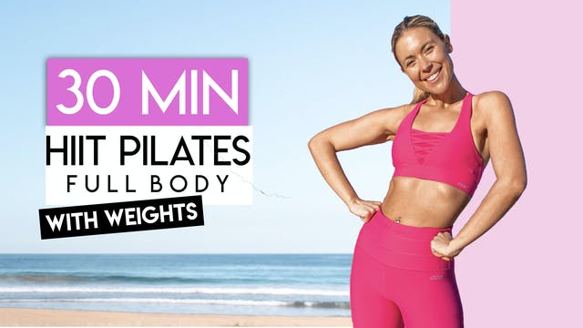 30 MIN FULL BODY HIIT PILATES