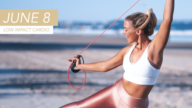 JUNE 8 - 30 MIN LOW IMPACT CARDIO WITH THE HANDLE BAND