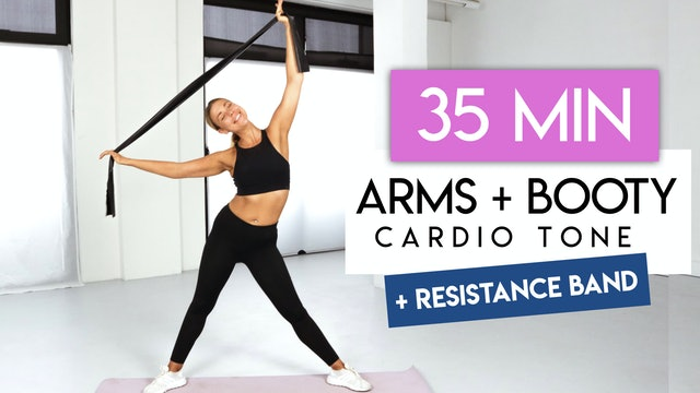 40 MIN ARMS + BUTT CARDIO WITH RESISTANCE BAND