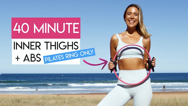 40 MIN ABS + INNER THIGHS TONING WITH...