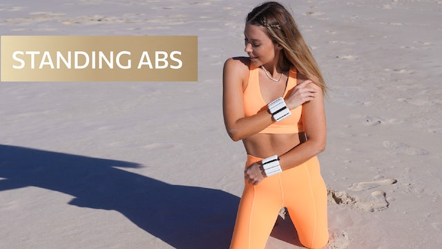 7 MIN STANDING ABS LOW IMPACT (WEIGHTS OPTIONAL)