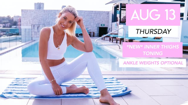 AUG 13 - *NEW* TONING CLASS FOR SLIM ...