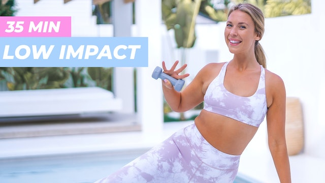 35 MIN LOW IMPACT CARDIO ABS, ARMS + ASSETS
