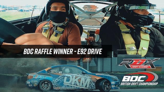 BDC Raffle Winner - E92 DRIVE