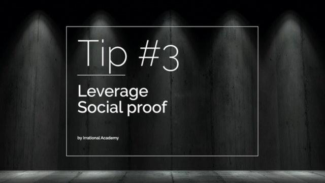 Tip#3 - Leverage Social proof